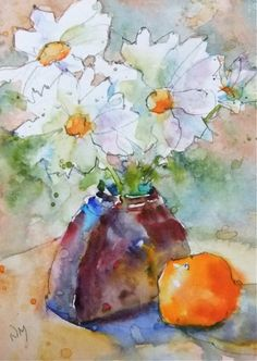 on the flip side - watercolour painting