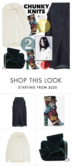 """""""Get Cozy: Chunky Knits"""" by selenawil ❤ liked on Polyvore featuring Acler, Dolce&Gabbana, Marques'Almeida, N°21, polyvoreeditorial and chunkyknits"""
