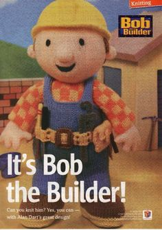 Bob The Builder Toy Knitting Pattern Pdf Instant By