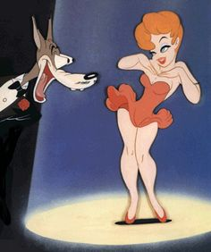 Tex Avery eat your heart out. Looney Tunes Cartoons, Retro Cartoons, Old Cartoons, Classic Cartoons, Vintage Cartoon, Tex Avery, Girl Cartoon, Cartoon Art, Cartoon Characters