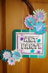 Great ideas for an art party!