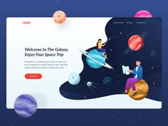 Galaxy Space Trip Header by Avian Rizky