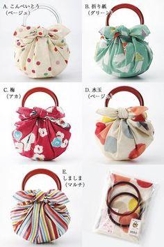 Facili da rifare, con una stoffa di 70x70 (?) Strawberry bag cotton Furoshiki (70 cm) and ring set