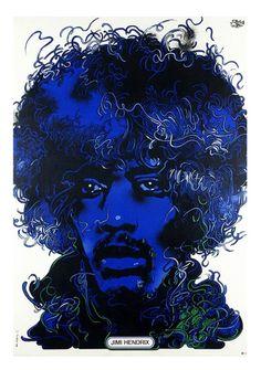 Waldemar Swierzy, Jimi Hendrix, 1974. Poland. Source