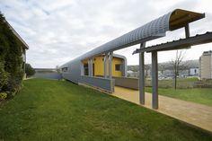 primary school, school design, green school, Miguel Ángel García-Pola Vallejo, Spain, rainwater, flexible design, modular design, modular architecture, prefab architecture