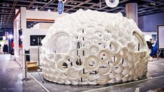 This puffer-fish-inspired trade show display took 30 hours just to assemble. Interactive Exhibition, Interactive Installation, Monolithic Dome Homes, Trade Show Design, Tiny House Cabin, Tiny Houses, Business Stories, Show Booth, Dome House