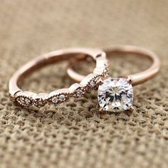 Traditional - Solitaire Engagement Ring - Look ravishing in this conflict-free rose gold wedding set!