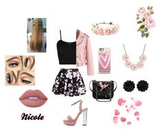 """""""Untitled #15"""" by nicole1995-1 ❤ liked on Polyvore featuring WearAll, Chicwish, WithChic, STELLA McCARTNEY, Forever 21, Casetify, J.Crew and Lime Crime"""