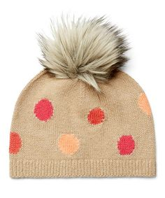 Another great find on #zulily! Coffee Polka Dot Hat #zulilyfinds