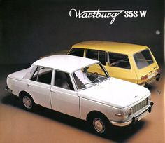 Wartburg W353 Brochure East German Car, Ddr Brd, East Germany, Car Advertising, Commercial Vehicle, Retro Cars, Car Photos, Vintage Ads, Old Cars