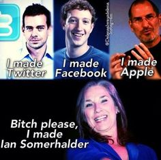 The Vampire Diaries...Haha I love Mama Somerhalder! She is clearly the winner!