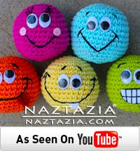 DIY Learn How to Crochet Easy Beginner Amigurumi Smiley Ball Balls - Free Pattern With YouTube Video by Naztazia