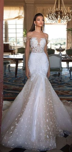 A wedding dress is an important part of any bride's big day. A wedding dress comes in many different styles,modern, and designs made for a variety of wedding themes. And a deep V neck Wedding… V Neck Wedding Dress, Wedding Dresses 2018, Stunning Wedding Dresses, Perfect Wedding Dress, Wedding Attire, Bridal Dresses, Beautiful Dresses, Bridesmaid Dresses, Wedding Bride