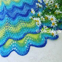 № 211 Волнистый ажурный узор для вязания спицами