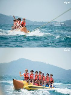 The next day, BTS had time to play ocean leisure at a Manukan Island. We are about to show the boys on the banana boat! BTS got a mission to complete before they got on the banana boat. The mission was... If they fall into water, find J-HOPE first. They promised not to let go of J-HOPE's hand, who is very afraid of water for getting on the boat together after soothing him everything will be okay. The guys friendship that even touches our mind! ☆   In the far end of green sea BTS are…