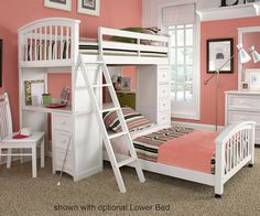 ★ Buy our School House White Loft Bed with built-in desk and storage drawers ★ NE Kids 7080 White Schoolhouse Loft Bed is a space saving bed with excellent quality construction.