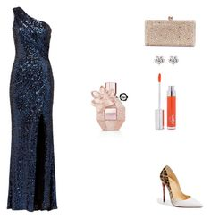 """Untitled #2948"" by carson729 ❤ liked on Polyvore featuring Badgley Mischka, Christian Louboutin, Zelens and Viktor & Rolf"