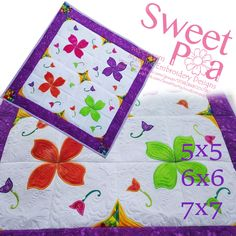 Paisley fantasy quilt 5x5 6x6 7x7 in the hoop machine embroidery design - Sweet Pea