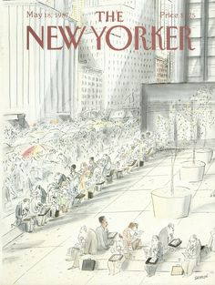 "The New Yorker - Monday, May 18, 1987 - Issue # 3248 - Vol. 63 - N° 13 - Cover by : ""Sempé"" - Jean-Jacques Sempé"