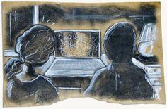 Ilustración de Bruno Netto basada en la novela El ídolo, de Eva Lara. -La grabación subacuática-