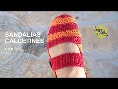 Tutorial Sandalias Pantuflas Crochet o Ganchillo en Español, My Crafts and DIY Projects