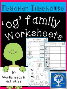 Ten different 'og' family worksheets and simple activities to keep students engaged while learning. Great for morning work, centers, interventions, and homework!