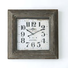 Take your time with this industrial chic Chateau De Chambres Wall Clock.