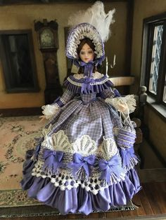Commissioned UK Artisan Porcelain Miniature Dollhouse Victorian Doll Rebecca #Unknown
