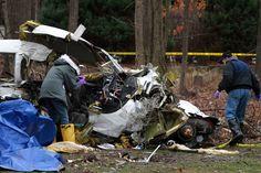 FAA officials investigate a small plane crash near Portwine and Orange Brace roads in northwest suburban Riverwoods Tuesday