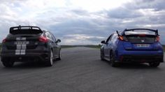 Vidéo : Ford Focus RS VS Honda Civic Type R, la drag-race
