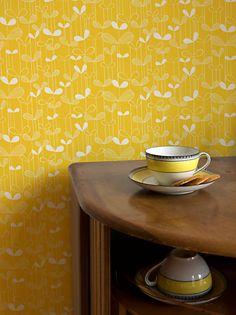 MissPrint Saplings Wallpaper, Yellow