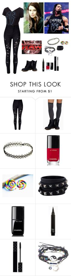 """Roman & Ashleigh Confront The Authority"" by ashleighreigns156 ❤ liked on Polyvore featuring WithChic, Tobi, Monday, Chanel, Valentino and Gucci"