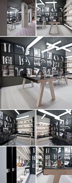 """STAND VHERNIER / DE VECCHI    Un """"laboratorio trasversale"""" per la nuova immagine Vhernier/De Vecchi studiata per la fiera parigina Maison uno spazio volutamente rivisitato per essere tradotto in spazio espositivo attraverso il ricordo degli spazi di lavoro."""