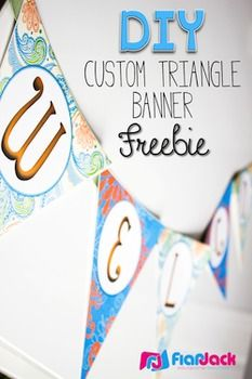 DIY Custom Triangle Banner Template FREEBIE