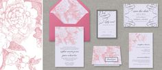 Garden Rose Printable Wedding Stationery for DIY Brides