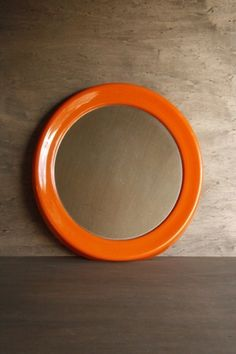 Orange mirror.