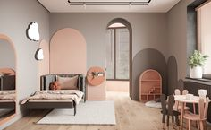 Traffic grey discovered by stephanieluong_ on We Heart It - кухня декор Kids Bedroom Designs, Kids Room Design, Room Interior, Interior Design Living Room, Baby Room Decor, Bedroom Decor, Interior Architecture, Design Blogs, Behance