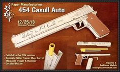 Hellsing ARMS .454 Casull Auto Pistol Paper Model Free Template Download   PaperCraftSquare.com