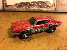 Hot Wheels #442 Dark Red 1:64 loose 1970 Oldsmobile Muscle Car  | eBay