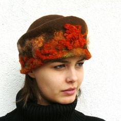 Felted Hat hadmade merino wool Winter Accessories by MajorLaura