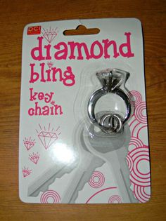 """Diamond Bling Key chain - A fun gift for a bride to be, newly wed or someone who likes """"bling""""."""