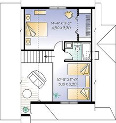 Second level image of Celeste 2 House Plan UPSTAIRS