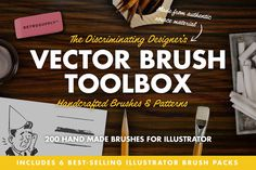 The Vector Brush Toolbox by RetroSupply Co.. HUGE pack of best-selling vector brush packs. 30% off until 7 Dec 2015.