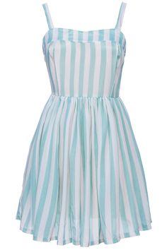 ROMWE | Light Green Striped Print Camisole Dress, The Latest Street Fashion