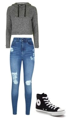 """Untitled #168"" by layne2005 ❤ liked on Polyvore featuring Lipsy, Topshop and Converse"