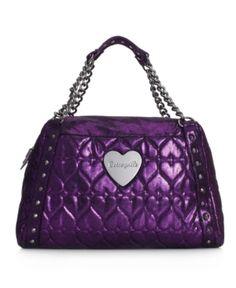 Betsey Johnson Purses Betseyville By Handbag Heart 2 Handle Satchel Mauve