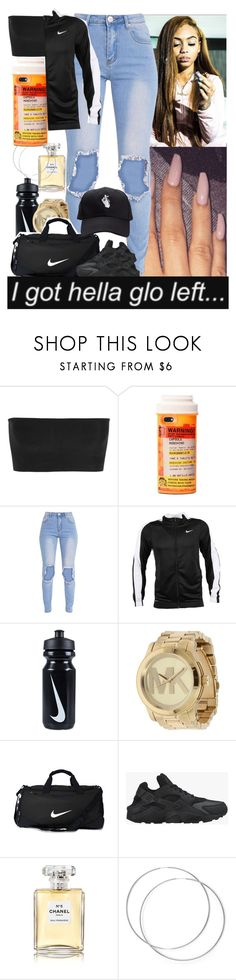 """House Party // PrincessCece"" by xprincesscecex ❤ liked on Polyvore featuring Balmain, NIKE, Michael Kors and Chanel"