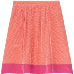 Vanessa Bruno Athé Swiss-dot silk mini skirt ($120) ❤ liked on Polyvore