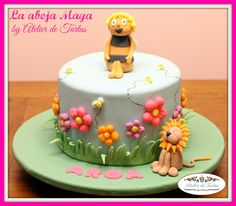 Atelier de Tartas#Tartas Fondant Cumpleaños#Tarta Fondant Abeja Maya#Tartas personalizadas#Tartas decoradas#Tartas Cumpleaños#Decorated Fondant Cakes#Tartas Fondant Mallorca