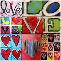 Laugh, sip and paint the night away at a Valentine's themed Open Studio. You can choose any one of the Valentine's themed paintings options.